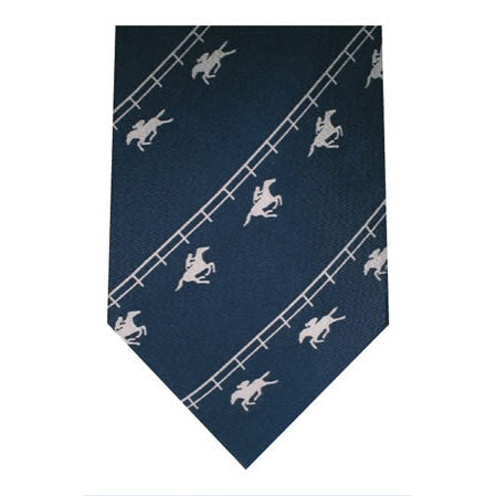 racing printed silk tie