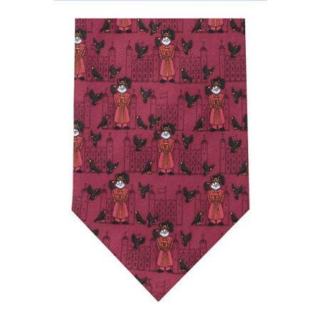 beefeaters printed silk tie