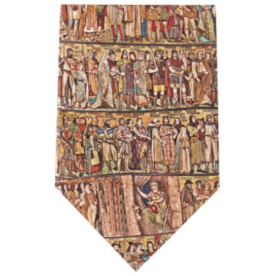 medieval frieze printed silk tie