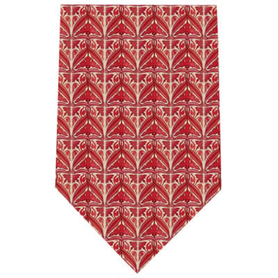 red lustre printed silk tie