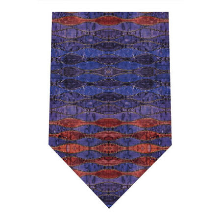 mackintosh purple and orange printed silk tie