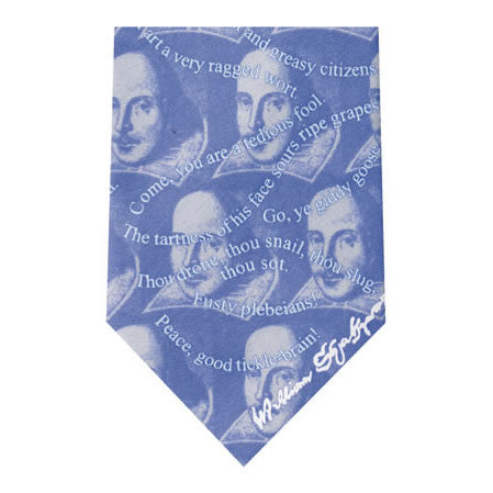 shakespeare insults printed silk tie
