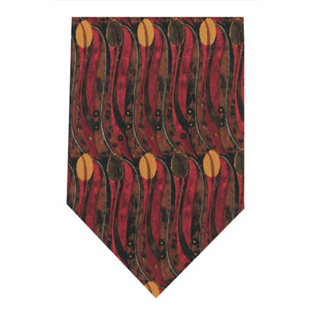 mackintosh tulips printed silk tie