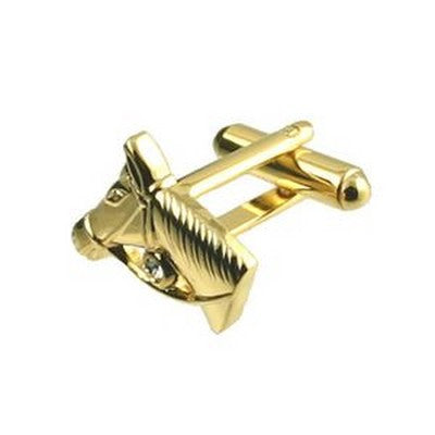 gold horse head cufflinks