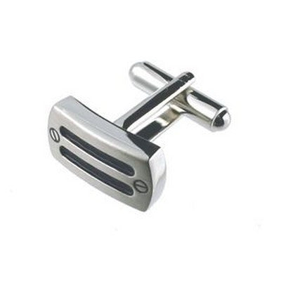 alloy and black cufflinks