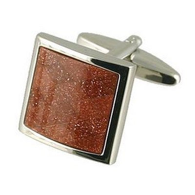 andromeda brown goldstone cufflinks