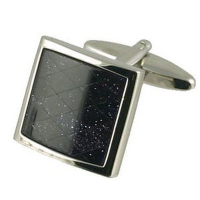 andromeda blue goldstone cufflinks