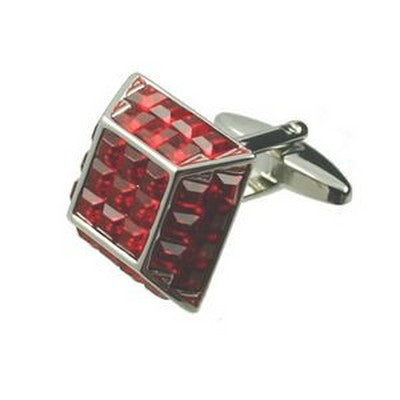 pyramid red cufflinks