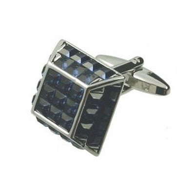 pyramid blue cufflinks