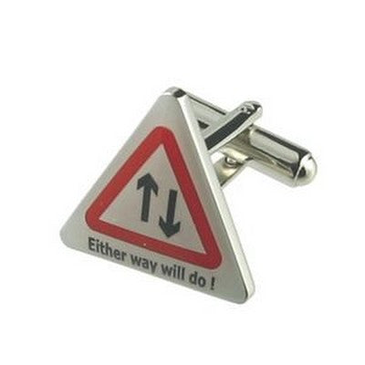 either way will do road sign cufflinks