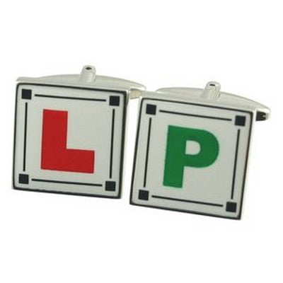 l and p learner driver cufflinks