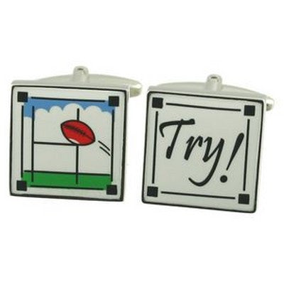 rugby try cufflinks