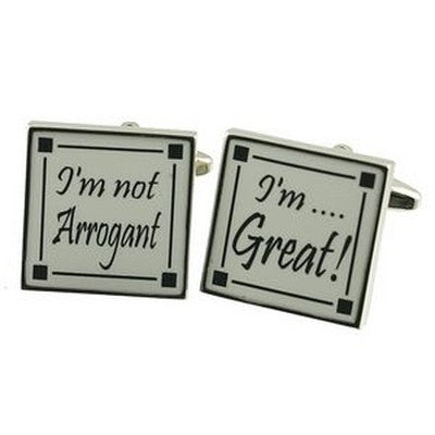 im not arrogant cufflinks