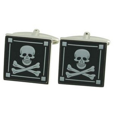 pirate skull and bones cufflinks