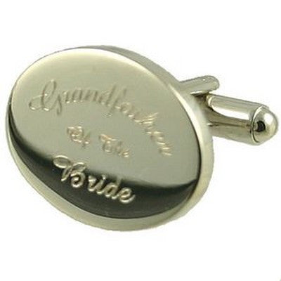 grandfather of the bride wedding silver cufflinks