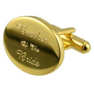 gold brother of the bride wedding cufflinks