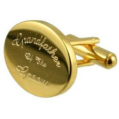 gold grandfather of the groom wedding cufflinks