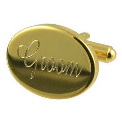 gold groom wedding cufflinks