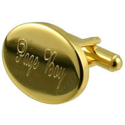 gold page boy wedding cufflinks