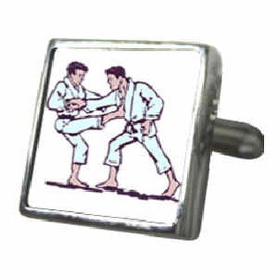 judo fight 3d lenticular cufflinks