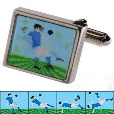 footballer blue 3d cufflinks