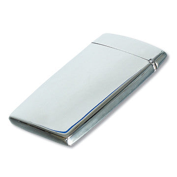 polished fliptop business card holder