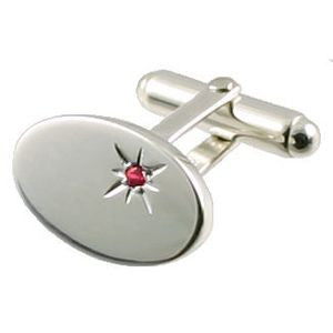 925 sterling silver ruby stone cufflinks