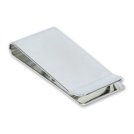 large silver plated money clip