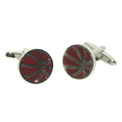 Basketball Enamelled Cufflinks