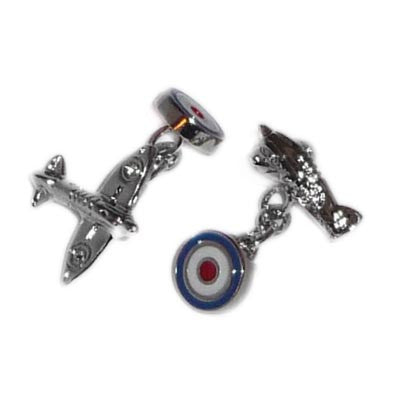 Double Ended Chain Style Spitfire & Roundel Cufflinks