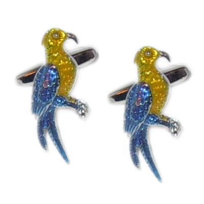 Colourful Parrot Cufflinks