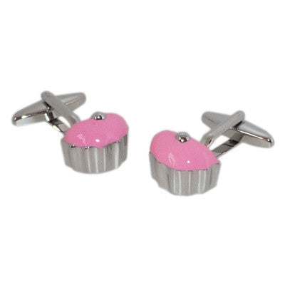 Cool Pink Cup Cake Cufflinks