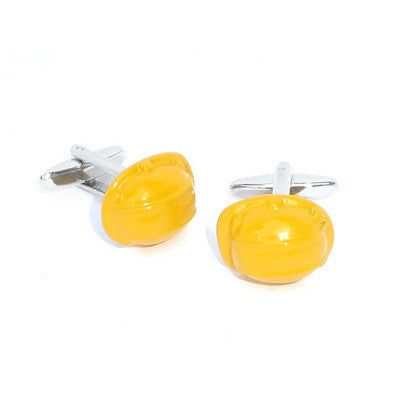 Yellow Safety Helmet Cufflinks