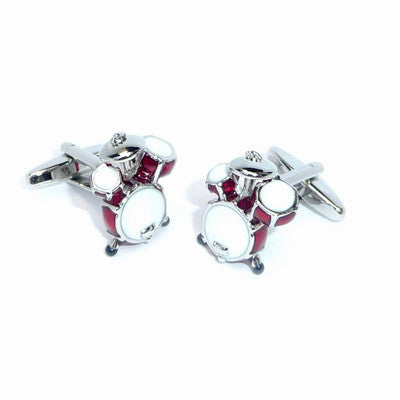Red Drumkit Cufflinks