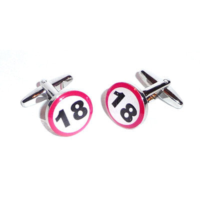 18 Road Sign  Birthday Cufflinks