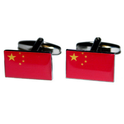 China Flag Cufflinks