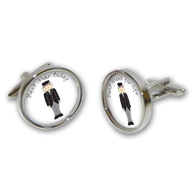 Best Man Today Best Friend for Life Cufflinks