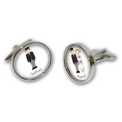 Grooms Getting Married Cufflinks