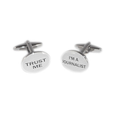 Trust me I am a Journalist Cufflinks