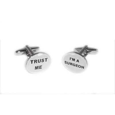 Trust me I am a Surgeon Oval Cufflinks