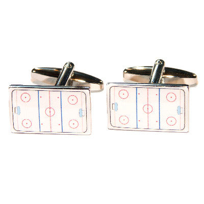 Ice Hockey Rink Cufflinks