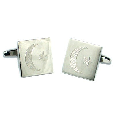 Islamic Flag Engraved Cufflinks