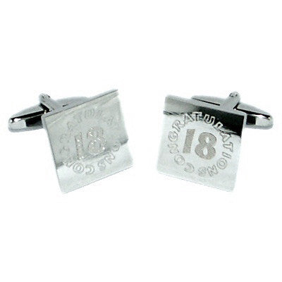18th Birthday Congratulations Cufflinks