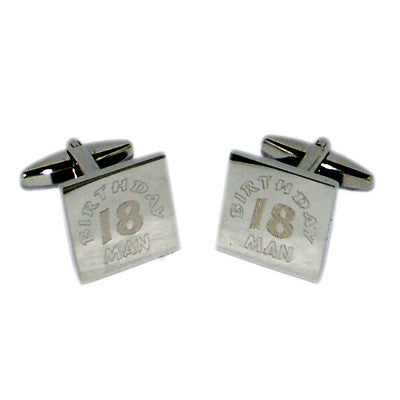 18th Birthday Man Cufflinks