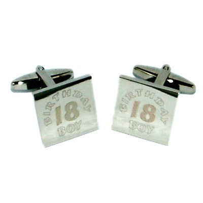 18th Birthday Boy Engraved Cufflinks