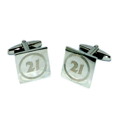 21 Birthday Speed Limit Style Engraved Cufflinks