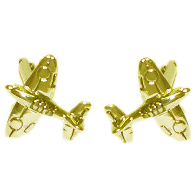 Gold Plated Spitfires Cufflinks