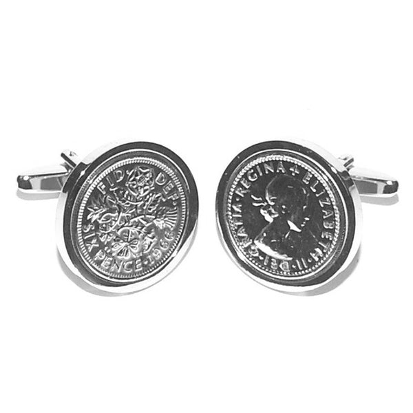 Lucky Silver Sixpence Cufflinks