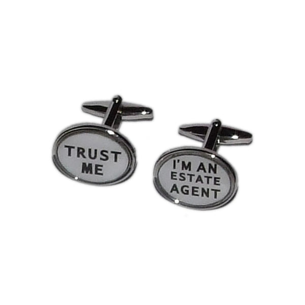 Trust Me I m an Estate Agent Cufflinks