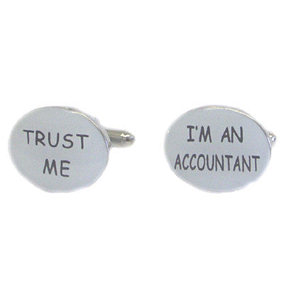 Trust Me I m an Accountant Cufflinks